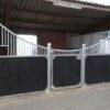 Luxus Boxenfront Pferdestall – Halbhohe Wand
