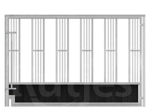 Laufstall mit Fressgitter - Zuchtstall, pferdebox