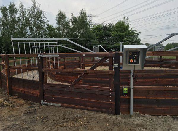 Führanlage für Pferde - mit Holz Umzäunung