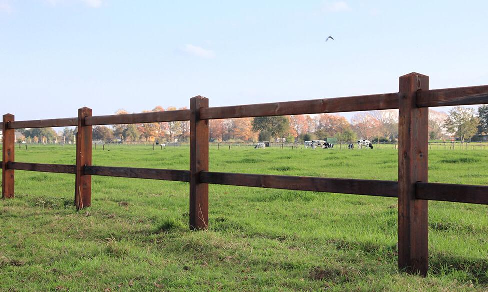 Zaun mit Ländlichen aussehen